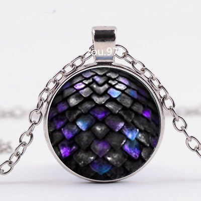 3 Colors Colorful Dragon Egg Game of Thrones Geekery Pendant Glass Necklace
