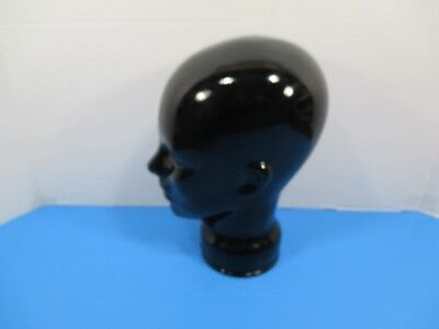 Black Glazed Mannequin Wig, Scarf and Hat Store Display Head VS4