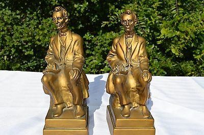 1964 Abraham Lincoln Bookends Universal Statuary Corp Chicago 22 780