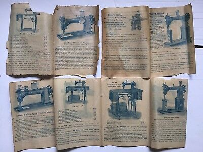 Antique Wheeler Wilson industrial sewing machines pamphlet form 6