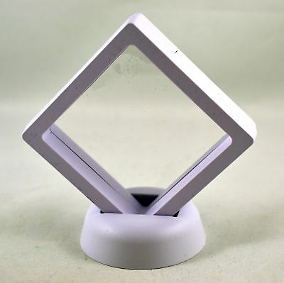 """SMALL WHITE DISPLAY CASE 2.75"""" x 2.75"""" MAGIC BOX PERFECT TO DISPLAY ANY ITEM"""