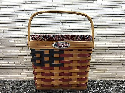 Longaberger 25th Anniversary Basket, Fabric Liner, Protector - Displayed Only!