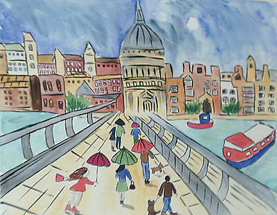 """Fridge Magnet,Rainy Day at St Pauls' Cathedral, London large  4.25"""" by 5.5"""""""