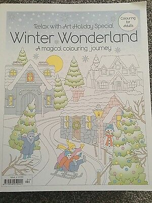 relax with art colouring  book for adults holiday special winter wonderland