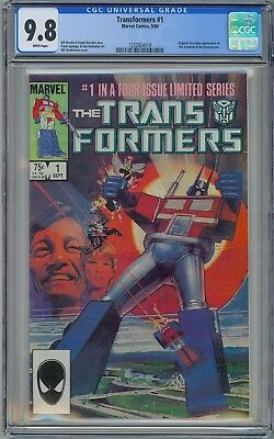 Marvel TRANSFORMERS #1 - CGC 9.8 - White NM/MT 1st AUTOBOTS & DECEPTICONS