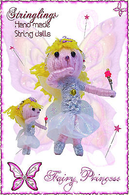 Stringlings  String Doll, Voodoo Doll The Fairy Princess Keychain toy, Handmade