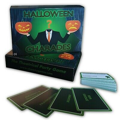 Halloween Party Game-  HALLOWEEN CHARADES - FREE 1st Class P&P