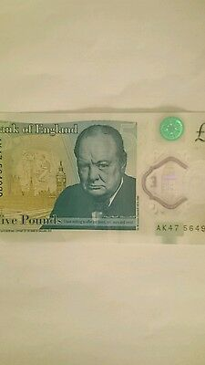 GENUINE AND VERY RARE SPECIAL POLYMER AK47 £5 Pound Note THIS NOTE IS UNIQUE