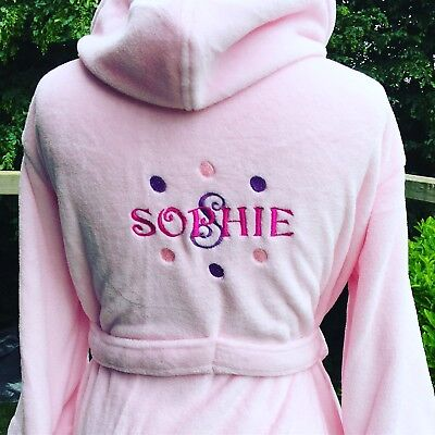 Girls dressing gown- nightwear - luxury fleece personalised dressing gown kids