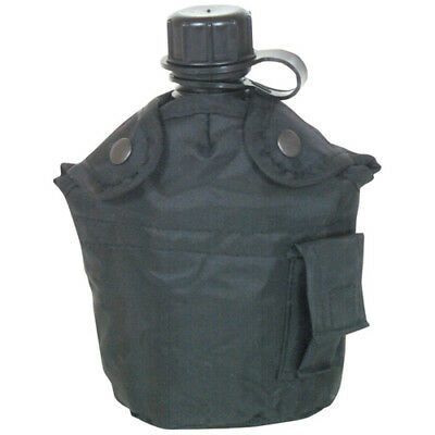 Canteen 1 Quart And Cover US Military Style Plastic Lightweight  Black