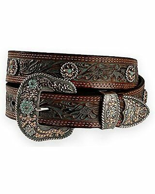 Nocona N3411208 Womens Concho Accent Painted Leather Western Belt  M