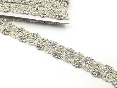 11'' Pearl Bridal Belt Rhinestone Wedding Sash belt ,Reduced To Clear Price Trim