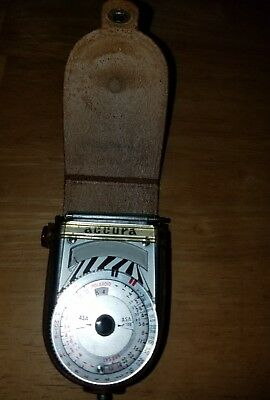 Vintage Accura Light Meter With Leather Case