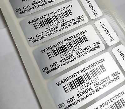 Tamper Proof Warranty Void Stickers Protection Labels Security Seal Double label
