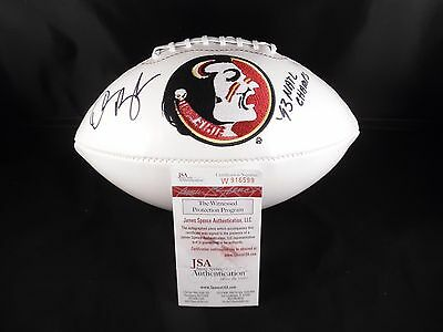 Derrick Brooks Signed Autographed Football Florida State Seminoles  (Jsa Cert)