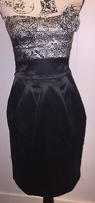 c1b5038c9 Teeze Me Mini Dress Prom Homecoming Satin Shiny Above Knee Black Strapless  Sz 5