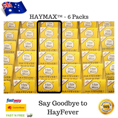 HayFever Natural Remedy HAYMAX 6 PACK Organic Drug Free Allergy Barrier Balm