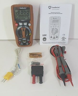 NEW! Southwire Residential PRO True RMS Cat III Multimeter Pro Model #13070T