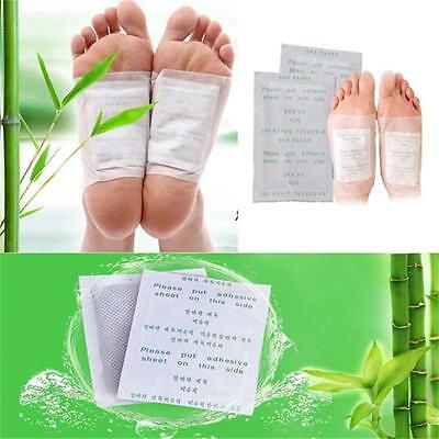 Hot Kinoki Herbal Detox Foot Pads 10 Detoxification Cleansing Patches 10 Gift Y^