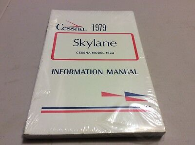 Cessna 1979 Skylane model 182q  information manual-NEW