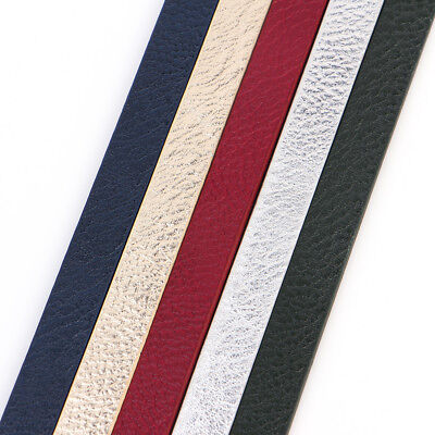 1meter 10mm Wide Flat Leather Cord Rope Jewelry Findings Thread Bracelet Strips