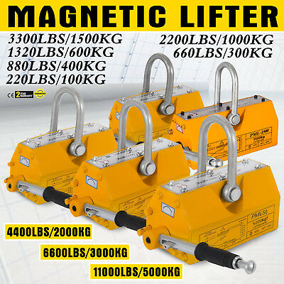 100/300/600/1000KG Steel Magnetic Lifter Heavy Duty Crane Hoist Lifting Magnet