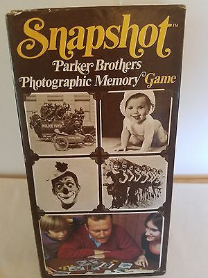 NIB 1972 No# 760  SNAPSHOT Parker Brothers Photographic Memory Game  8 to adult