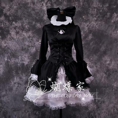 Fate Zero stay night hollow ataraxia Saber Cosplay Kostüm Gothic Schwarz Gr. XL