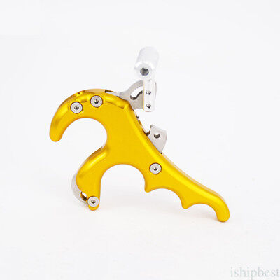 Hunting Archery Arrow 4 Finger Grip Caliper Release Aids for Compound Bow NEW