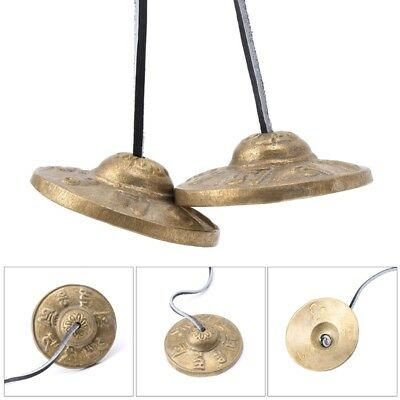 Tibetan Meditation Tingsha  Cymbal Bell Handcrafted with Buddhist Lucky Symbols