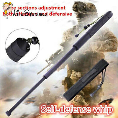 Men Women 55cm/63cm Rubber Professional Outdoor Retractable Telescopic Stick