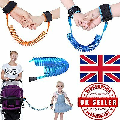 UKChild Kids Anti-lost Safety Leash Wrist Link Harness Strap Reins Traction Rope