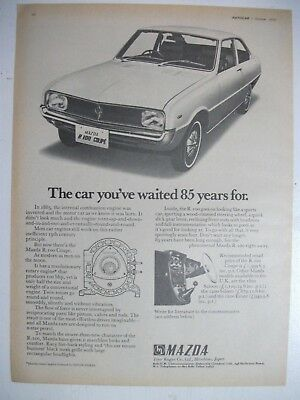 1970 Mazda R100 Coupe British Magazine Fullpage Advertisement