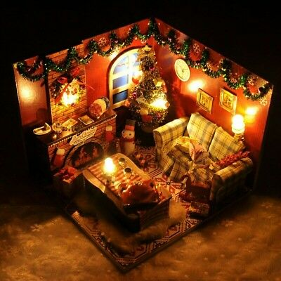 Doll House DIY Christmas Room With Furniture