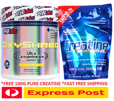 Ehplabs Oxyshred Thermogenic Fat Burning Weight Loss Plus 100G Creatine
