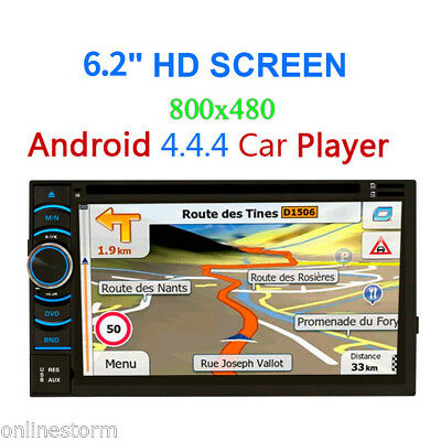 "6.5"" LCD 2 Din Android 4*Core 3G WiFi Bluetooth DVD Auto GPS Navigazione Player"