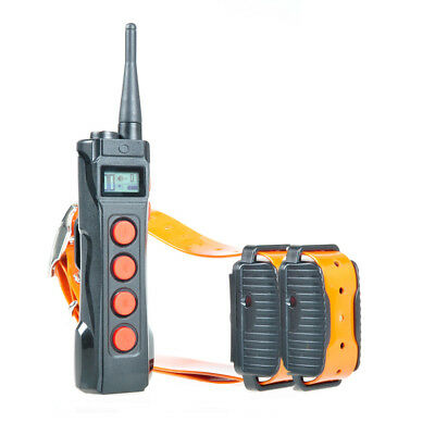 AT-919C Dog Training Shock Collar Remote 1100 Yards Auto Anti Bark for Two Dogs