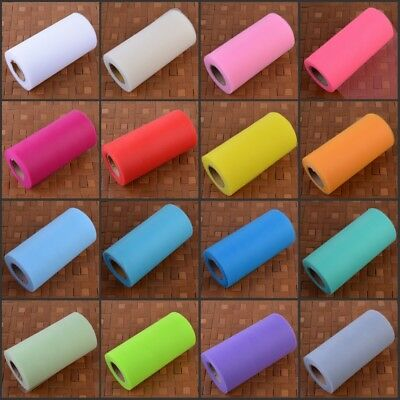 """6"""" 25 Yards Double Line Tutu Tulle Roll Spool Lace Wedding Bow Party Deco Craft"""