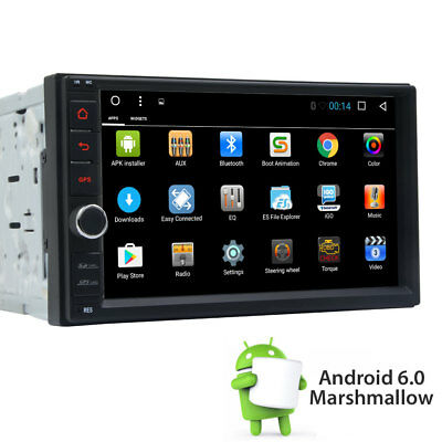 Android 6.0 2 Din Car Stereo Radio GPS Navigation NO-DVD Player MP3 OBD 3G Wifi