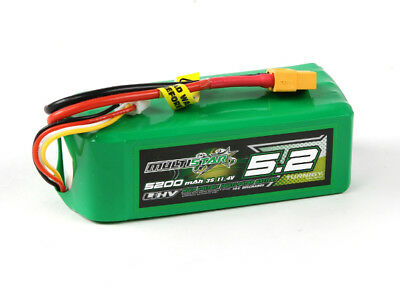 RC Multistar LiHV High Capacity 5200mAh 3S 10C Multi-Rotor Lipo Pack