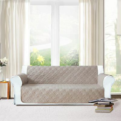 Luxury Quilted Sofa Slip Protector cover Throw new sofa cover Beige 1,2,3 Seat