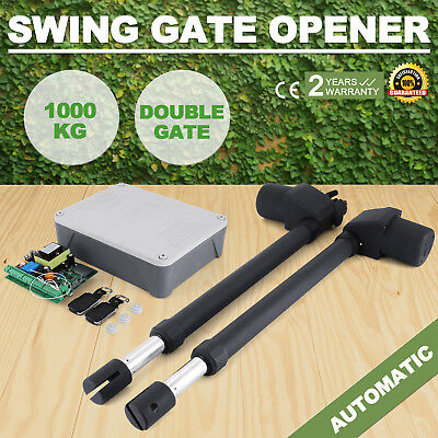 Automatic Electric Powered Swing Gate Opener Kit 2 x Remote Control 1000kg