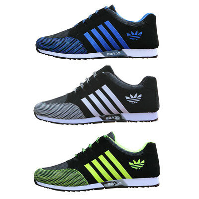 Mens Sneakers Canvas Mesh Fashion Breathable Gym Sports Running Casual Shoes UK