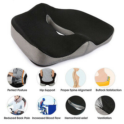Coccyx Orthopedic Gel-enhanced Comfort Seat Pad Office Car Chair Cushion Travel