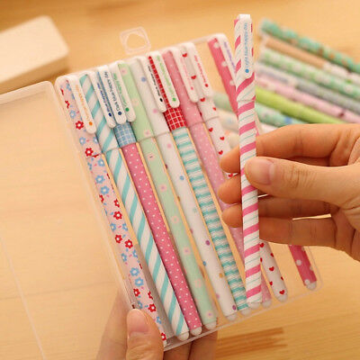 4 Pcs New Lovely Flower Printed Color Gel Pens School Office Accessories