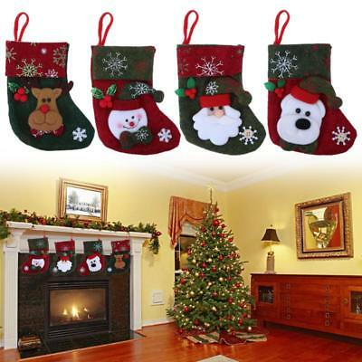 Christmas Red Stockings Hanging Ornament XMAS Tree Decoration Gift Candy Bag