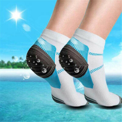 1Pair Anti Fatigue Compression Foot Sleeve Ankle Socks Relief Swelling Heel Pain
