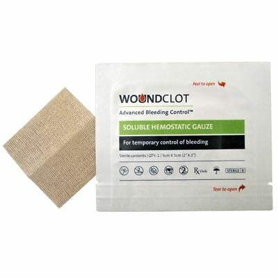 WoundClot ABC First Aid Haemostatic Gauze Dressing - Box of 20 (5cm x 5cm)