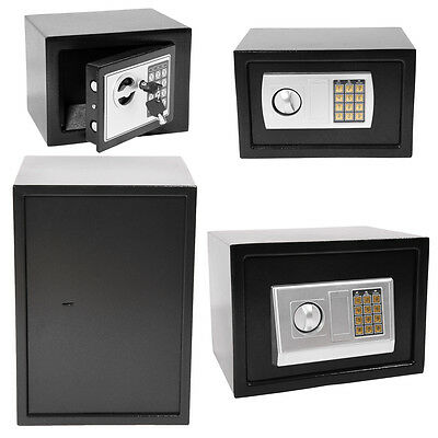 Panana Steel Safe Electronic Security Home Office Money Cash Safety Box Black
