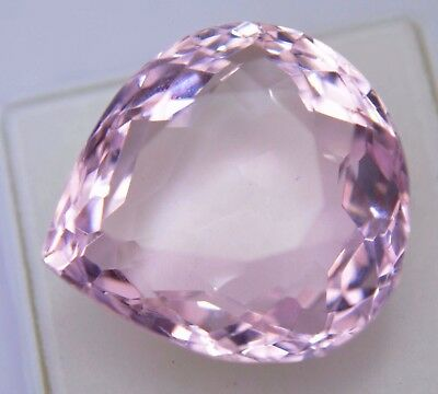 AAA+ 80.25 Ct Shiny Pink Brazilian Morganite GGL Certified Transparent Gemstone